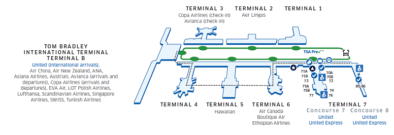 Los Angeles International Lax Airport Map