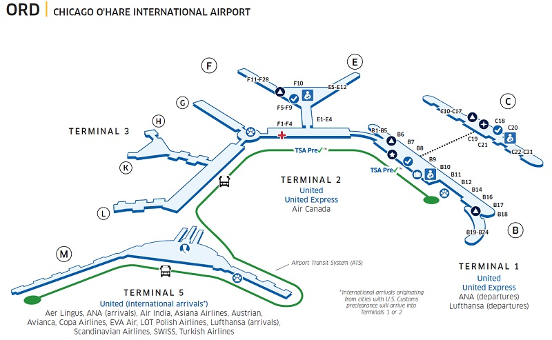 Ord Terminal Map Airport Ord Map   Best Airport 2018 Ord Terminal Map