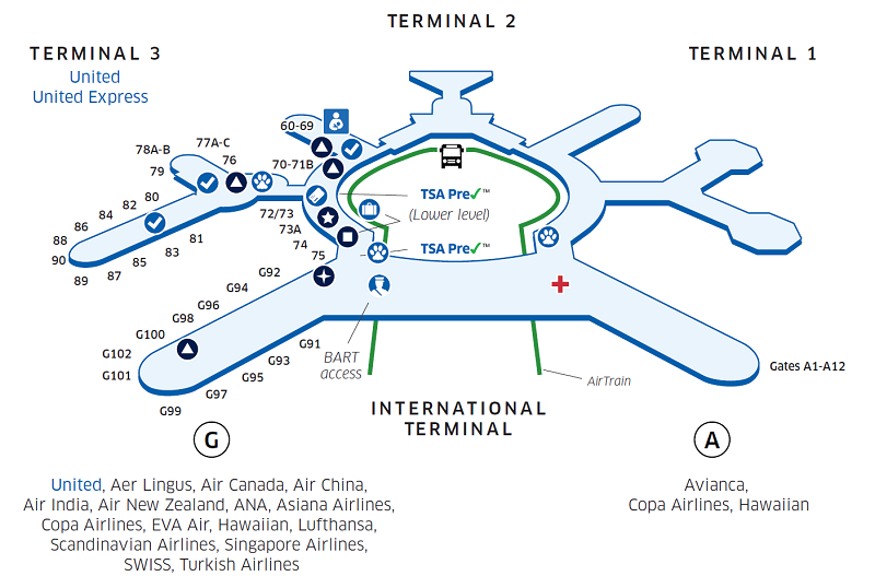 SFO Airport Map | United Airlines